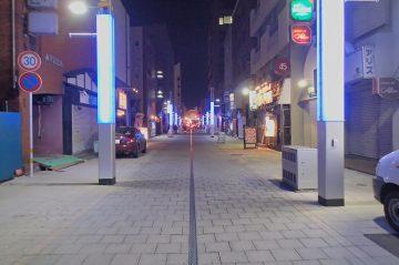 中央住吉1号線修景舗装工事(大分市都町)