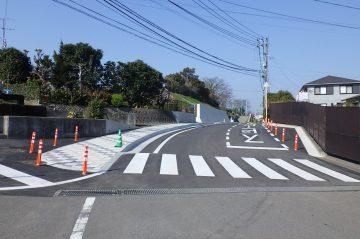 市道上野丘東元町1号線外1路線道路改築工事(大分市上野丘東)